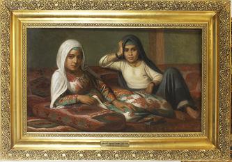 """Арт-студия """"Кентавр"""" - Шьётт Аугуст Хенрик Георг (1823-1895) картина  """"Женщины в гареме"""" №012531"""