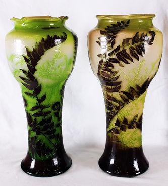 """Арт-студия """"Кентавр"""" - Парные вазы с растительным декором в стиле модерн №012627"""