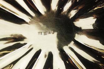"""Арт-студия """"Кентавр"""" - Серебряная конфетница с растительным декором №012647"""