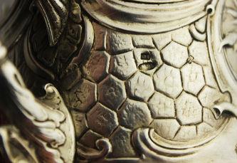 """Арт-студия """"Кентавр"""" - Серебряный подстаканник с изображением индийского слона №012661"""