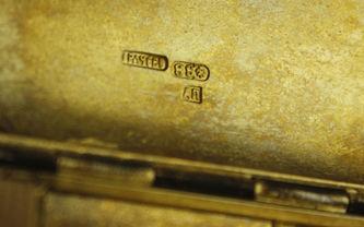 """Арт-студия """"Кентавр"""" - Серебряный портсигар с многоцветной эмалью. 1892-1895гг №012828"""