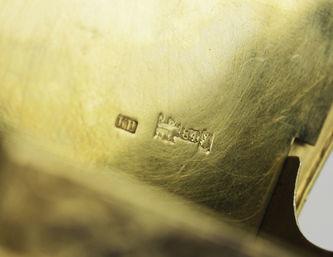 """Арт-студия """"Кентавр"""" - Серебряная солонка-стульчик с чернью и подписью """"Безъ соли безъ хлеба половина обеда"""" №012834"""