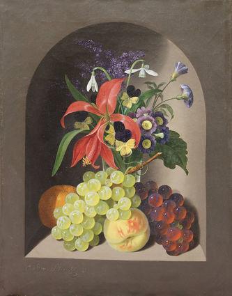 """Арт-студия """"Кентавр"""" - """"Натюрморт с цветами и фруктами"""" №012854"""