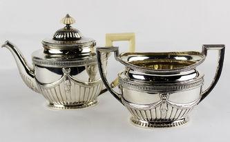 """Арт-студия """"Кентавр"""" - Чайник и ваза для десерта в классическом стиле. №012855"""