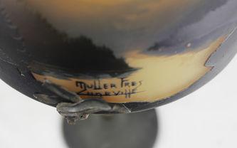 """Арт-студия """"Кентавр"""" - Антикварный настольный светильник с пейзажными видами №012869"""