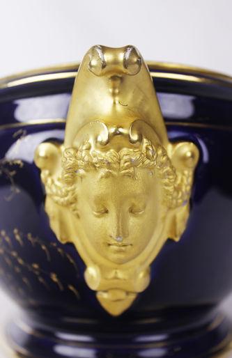 """Арт-студия """"Кентавр"""" - Старинная жардиньерка, украшенная росписью «bleu de Roi» №012884"""
