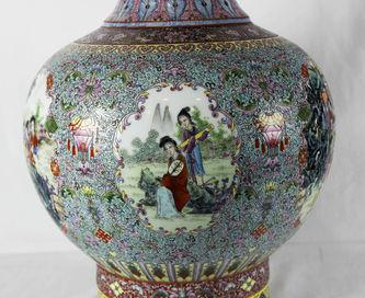 """Арт-студия """"Кентавр"""" - Старинная ваза с изображением жанровых сцен №012892"""