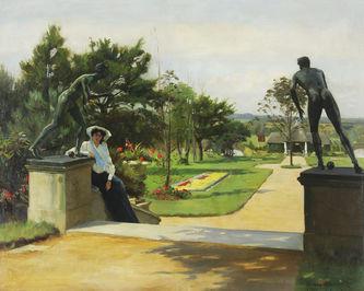 "Арт-студия ""Кентавр"" - Холиоук Роуланд (1855-1907)- ""В парке""  №012920"