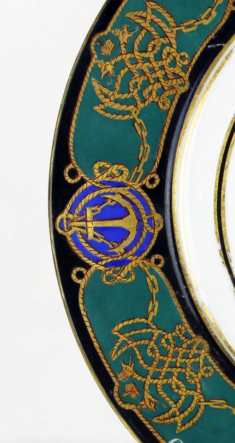 "Арт-студия ""Кентавр"" - Тарелка из сервиза императорской яхты Александра II ""Держава"" №013063"