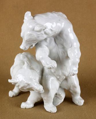 """Арт-студия """"Кентавр"""" - Фарфоровая статуэтка """"Играющие медвежата"""" №013088"""