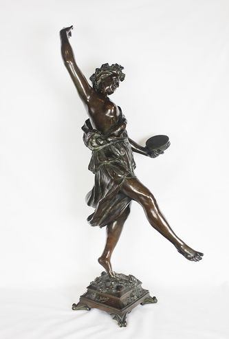 "Арт-студия ""Кентавр"" - Бронзовая скульптура ""Вакханка с тамбурином"" №013179"