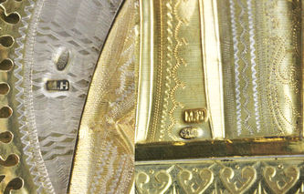 """Арт-студия """"Кентавр"""" - Старинная икона """"Богоматерь Иверская"""" в серебряном окладе №013194"""