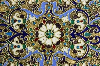 """Арт-студия """"Кентавр"""" - Старинный портсигар с перегородчатой эмалью №013201"""