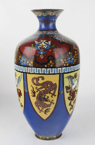 """Арт-студия """"Кентавр"""" - Старинные парные вазы в технике клуазоне №013215"""