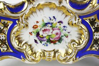 """Арт-студия """"Кентавр"""" - Антикварное фарфоровое кашпо с изображением цветов №013216"""