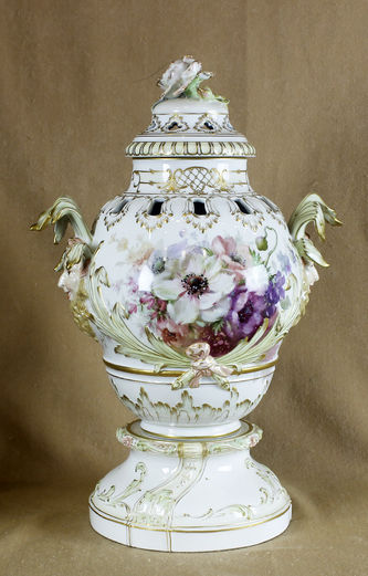 """Арт-студия """"Кентавр"""" - Старинная ваза с цветочным орнаментом №013306"""