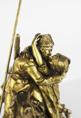 """Арт-студия """"Кентавр"""" - Бронзовая скульптура """"Прощание казака с казачкой"""" №013319"""