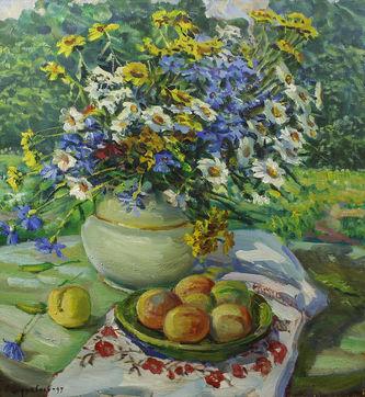 """Арт-студия """"Кентавр"""" - """"Цветы и персики"""" №013337"""