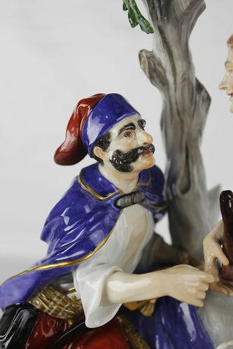 """Арт-студия """"Кентавр"""" - Фарфоровая статуэтка """"Крестьянка и солдат"""" №013371"""