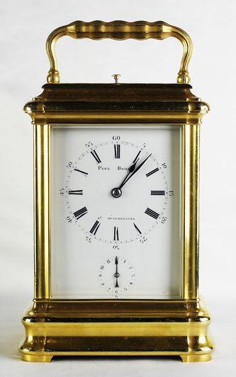 """Арт-студия """"Кентавр"""" - Старинные каретные часы с репетиром и будильником. 1880-1885гг №013381"""
