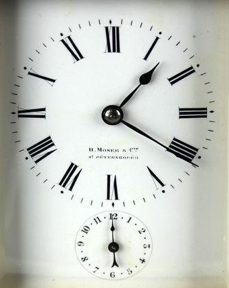 """Арт-студия """"Кентавр"""" - Старинные каретные часы с репетиром и будильником. 1900г №013385"""