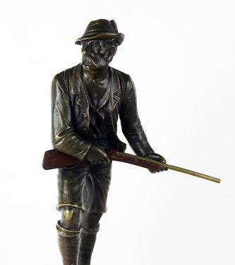 "Арт-студия ""Кентавр"" - Скульптура бронзовая ""Охотник с ружьем"" №013404"