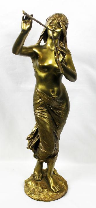 """Арт-студия """"Кентавр"""" - Скульптура бронзовая """"Лесная муза"""" №013405"""