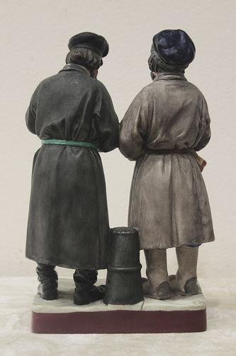 """Арт-студия """"Кентавр"""" - Фарфоровая статуэтка """"Приезжие мужики"""" №013418"""