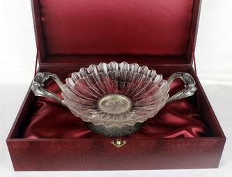 """Арт-студия """"Кентавр"""" - Старинная серебряная ваза для фруктов №013419"""