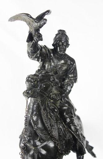 """Арт-студия """"Кентавр"""" - Бронзовая скульптура """"Царский сокольничий времен Иоанна Грозного"""" №013455"""