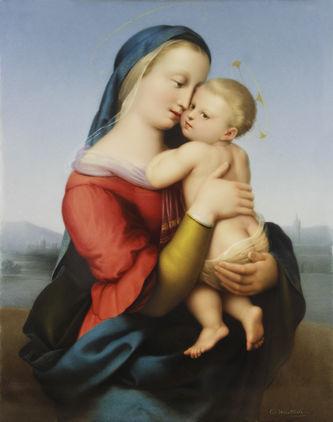"Арт-студия ""Кентавр"" - Фарфоровый пласт ""Мадонна Темпи"" (копия картины Рафаэля Санти (1483-1520)) №013538"