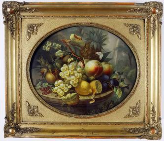"""Арт-студия """"Кентавр"""" - Фарфоровый пласт """"Натюрморт с виноградом и лимоном"""" №013542"""