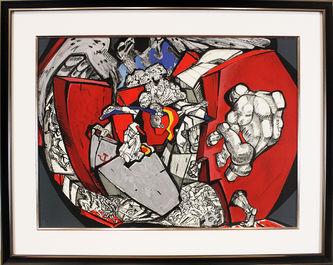 """Арт-студия """"Кентавр"""" - Литография из цикла """"Сквозь стену"""" №013560"""