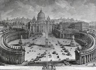 """Арт-студия """"Кентавр"""" - """"Главный вид на собор и площадь Святого Петра в Ватикане""""  №013614"""