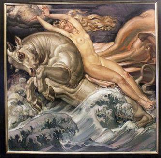 """Арт-студия """"Кентавр"""" - Pierre-Albert Begaud (1906-1966) - """"Похищение Европы""""  №013685"""