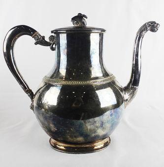 """Арт-студия """"Кентавр"""" - Старинный серебряный чайно-кофейный сервиз из 4 предметов №013692"""