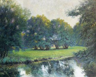 "Арт-студия ""Кентавр"" - ""Пейзаж с деревьями у реки"" №013760"