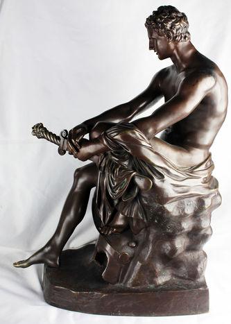 """Арт-студия """"Кентавр"""" - Бронзовая кабинетная скульптура """"Арес Людовизи"""" №013783"""