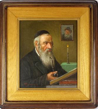 """Арт-студия """"Кентавр"""" - """"Читающий еврей (Еврей с трубкой)"""" №013792"""