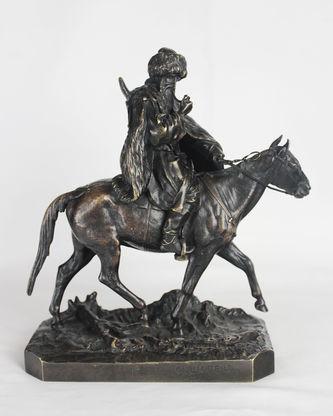 "Арт-студия ""Кентавр"" - ""Черкес на лошади, раскуривающий трубку"" №013953"