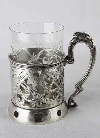 """Арт-студия """"Кентавр"""" - Старинный серебряный подстаканник в стиле модерн №013983"""