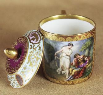 """Арт-студия """"Кентавр"""" - Старинная чайная пара """"Венера и Марс"""" №013986"""