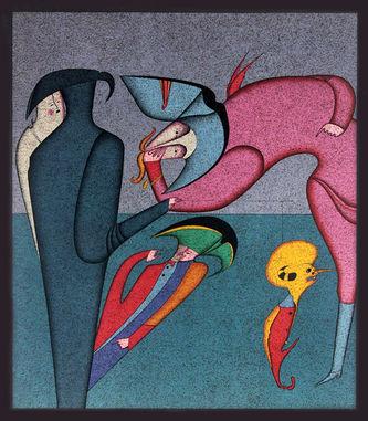 """Арт-студия """"Кентавр"""" - Литография """"Марионетка"""" (из серии """"Карнавалы Санкт-Петербурга"""") №014069"""