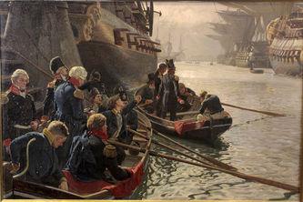 """Арт-студия """"Кентавр"""" - """"Британский флот уводит датские суда из гавани 21 октября 1807 года"""" №014077"""
