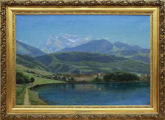 """Арт-студия """"Кентавр"""" - """"Вид озера Анси и вершины Ла Турнет"""" №014083"""