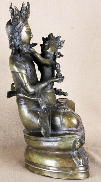 """Арт-студия """"Кентавр"""" - Скульптура бронзовая """"Будда с Шакти в союзе Яб-Юм (Будда Ваджрасаттва в союзе с супругой)"""" №014136"""