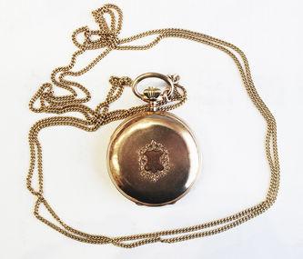 """Арт-студия """"Кентавр"""" - Старинные золотые карманные часы с гербовым щитом №014144"""
