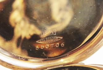 """Арт-студия """"Кентавр"""" - Антикварные золотые карманные часы с цепочкой  №014150"""