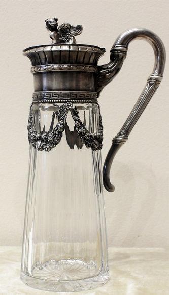 """Арт-студия """"Кентавр"""" - Старинный серебряный графин, украшенный фигурой сфинкса №014184"""
