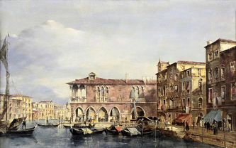 """Арт-студия """"Кентавр"""" - """"Венецианский пейзаж с Малой лоджией рыбного рынка в Риальто"""" №014193"""